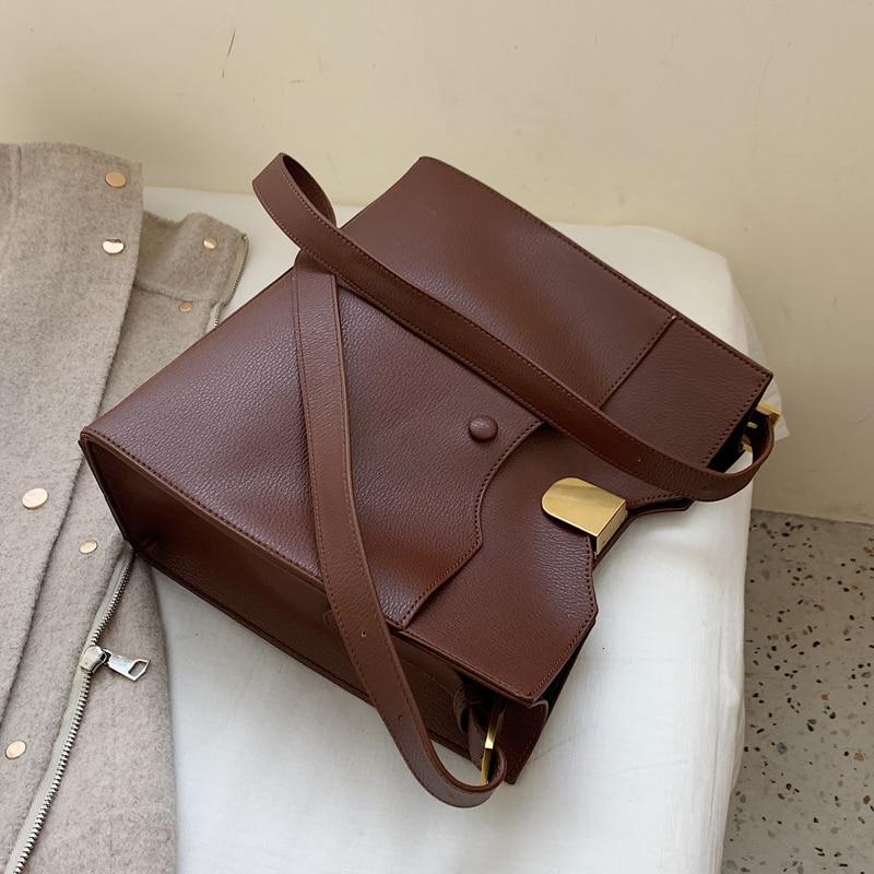 Vintage Big Tote Bag 2019 Fashion New High Quality PU Leather Women's Designer Handbag High Capacity Shoulder Messenger Bag