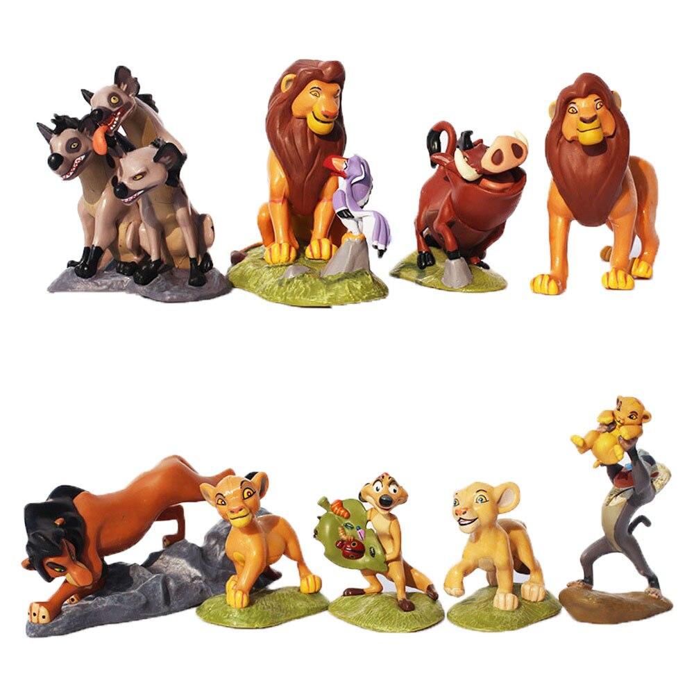 9 Pieces Ensemble 5 9cm Dessin Anime Figure Jouets Mignon Lion Figurine Pvc Modele Poupees Cadeau De Noel Pour Les Enfants Aliexpress