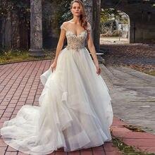 Eighree кружевное свадебное платье 2021 многоуровневые Свадебные