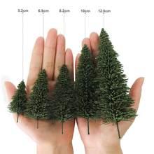 Modelo de pinheiros verde modelo árvore n ho o escala para modelo ferroviário layout s0804