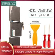 FERISING Original 54.5Wh 4781mah A1713 New Laptop Battery For Apple MacBook Pro 13''