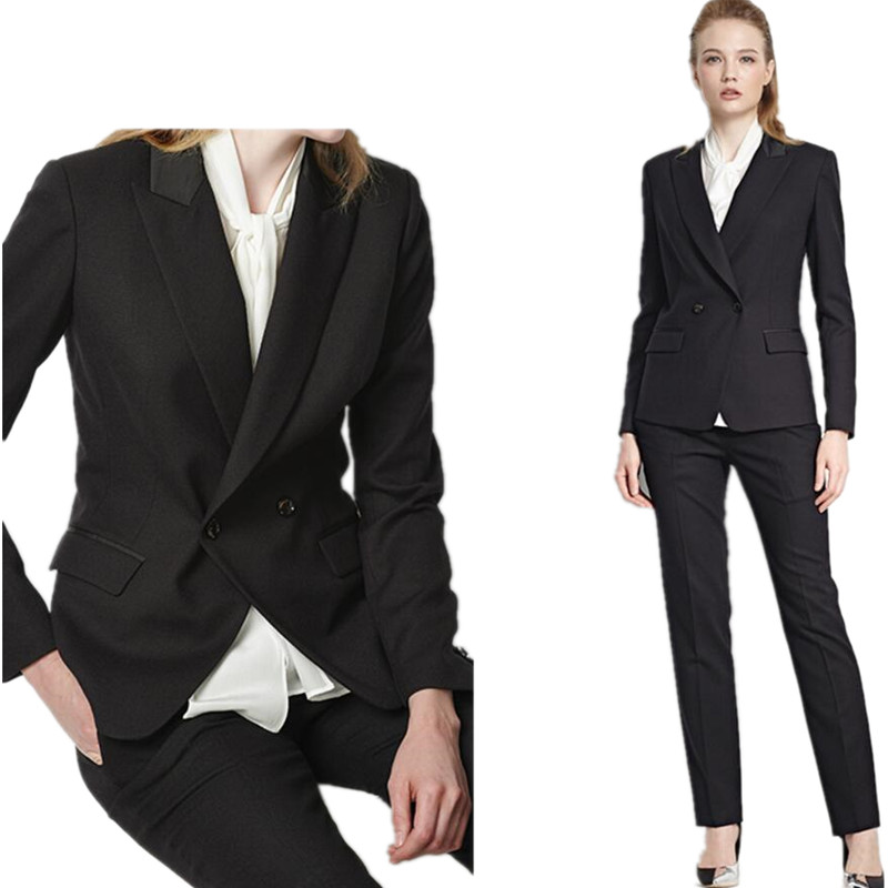 Women Pant Suits Professional OL Outfit Custom Business Suit Women Formal Occasions Double-breasted Chic Ladies Two-piece Suit