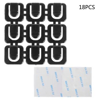 18Pcs Self-adhesive Wire Tie Cable Mount Clamp Clip Car USB Cable Sticker Fixed image