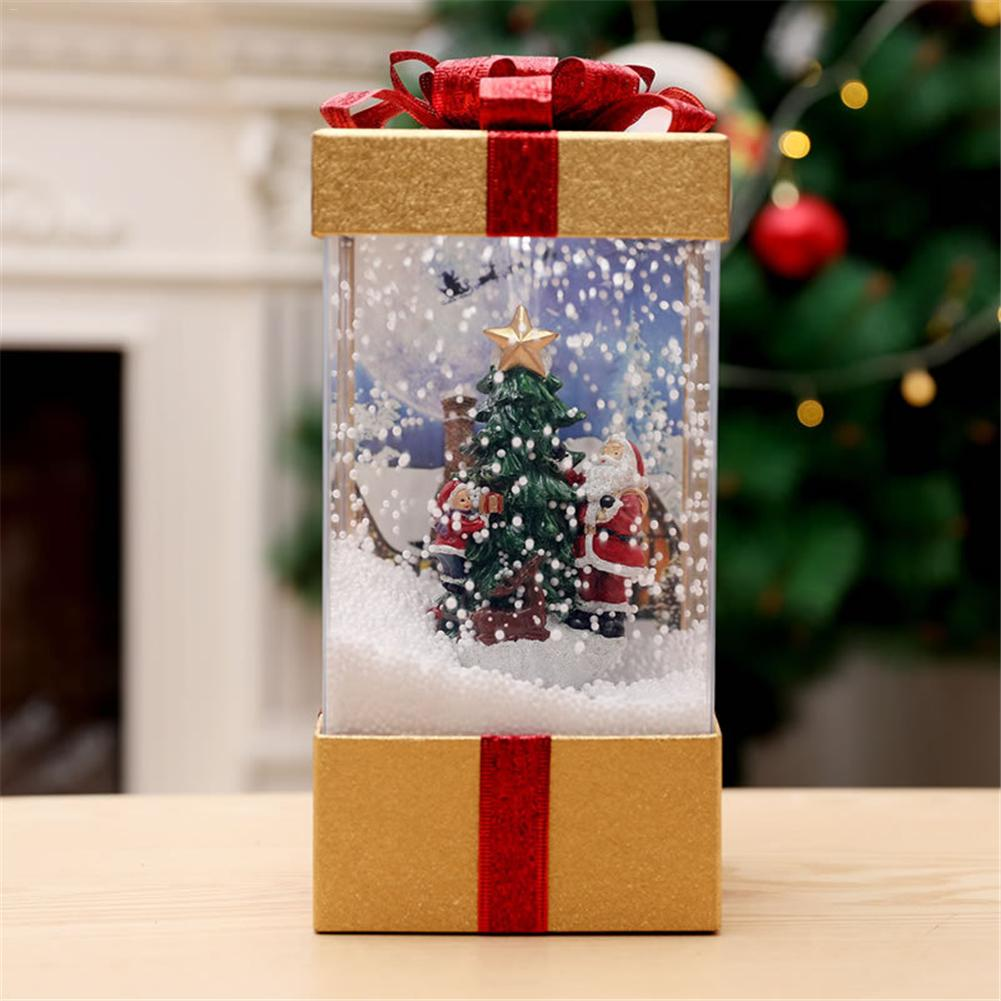 Christmas Snow Musical Light Lantern Ornament For Home Shopping Mall Window Decoration Christmas Gift
