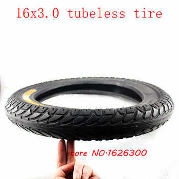 Electric Wheel Tire Explosion-proof Battery Car Vacuum /tubeless Tire 16x3.0Thickening and Stab-proof Outer Tire