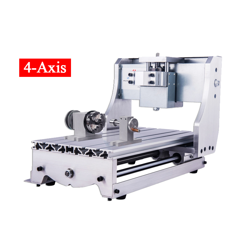 4axis <font><b>3020</b></font> <font><b>CNC</b></font> <font><b>Router</b></font> Aluminium frame for Engraving Drilling and Milling Machine wood <font><b>router</b></font> lathe with rotary axis image