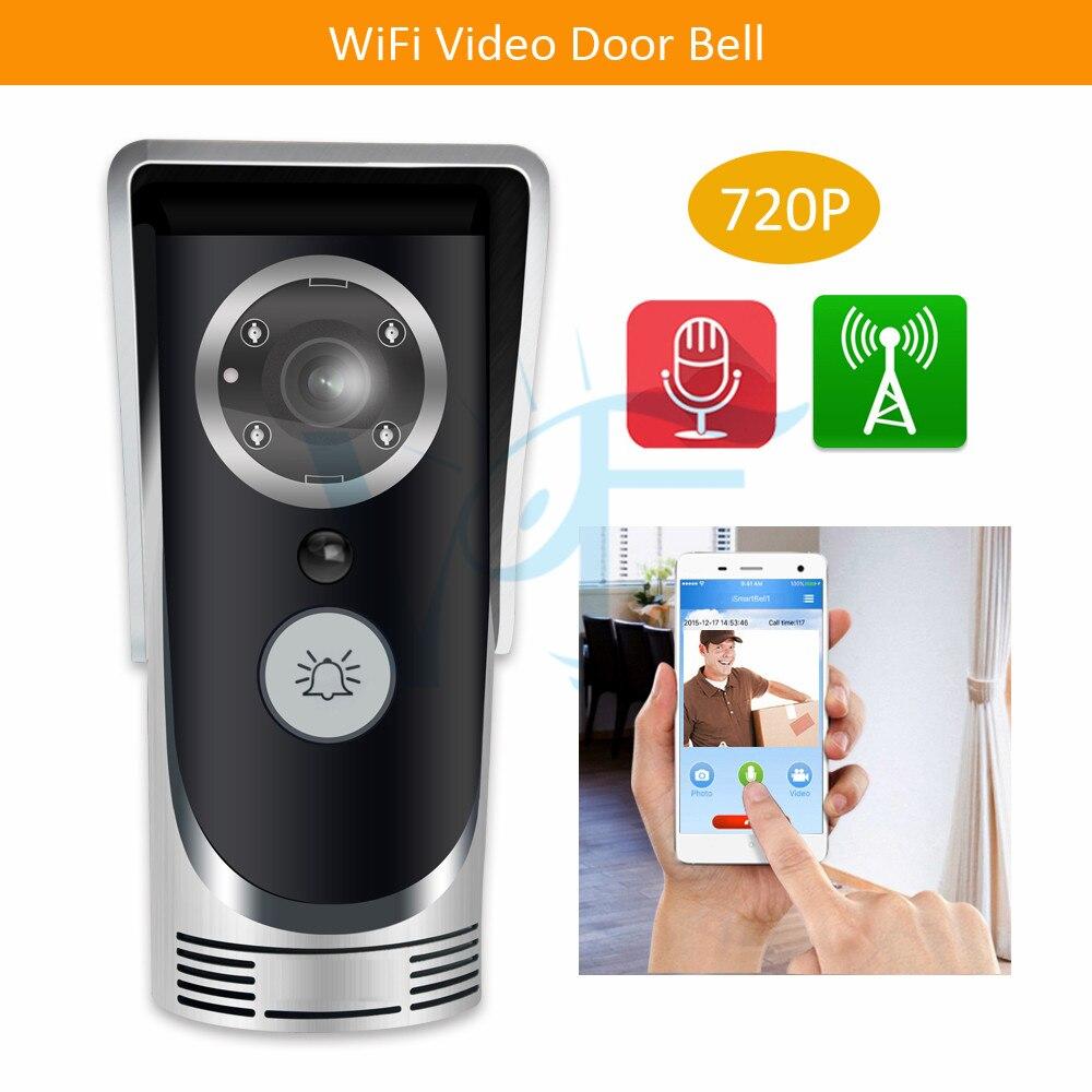 2 sztuk/partia srebrzysty wifi wideo dzwonek z wodoodporną obudową bezprzewodowa kamera domofon dwukierunkowy audio domofon dla home office shop