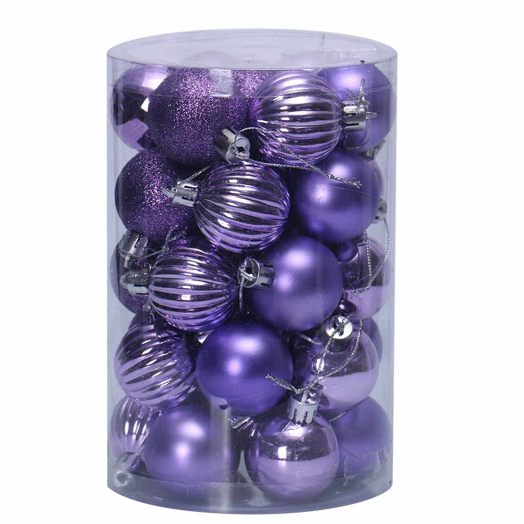 34PC 40mm Christmas Xmas Tree Ball Bauble Hanging Home Party Baubles Balls Ornament Decorations Decor Party Decorations 19Oct2