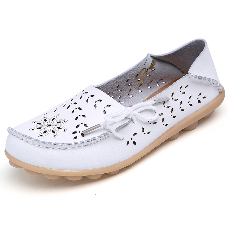 Women Flats Genuine Leather Shoes Woman Slip On Loafers Flats Soft Oxford Ballerina Shoes Casual Sapato Feminino Plus Size 44 Pakistan