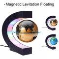 C Form Magnetische Levitation Montessori Geographie Globus Schwimm Welt Karte Tellurion LED Licht Terrestre Kinder Lernen Spielzeug