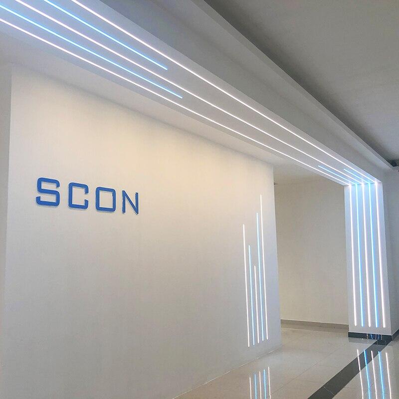 SCON Decorative Aluminum Profile Surface Mounted Recessed LED Strip Light Fixture Linear Bar Lights