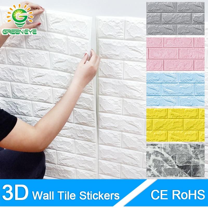 3D обои, мраморные кирпичные корки и самоклеющиеся наклейки на стену, водонепроницаемые, сделай сам, для кухни, ванной, дома, наклейки на стен...