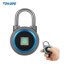 TOWODE Tragbare Smart Wasserdichte Keyless Lock APP Control Android IOS Telefon Bluetooth Fingerprint Entsperren Tür Vorhängeschloss
