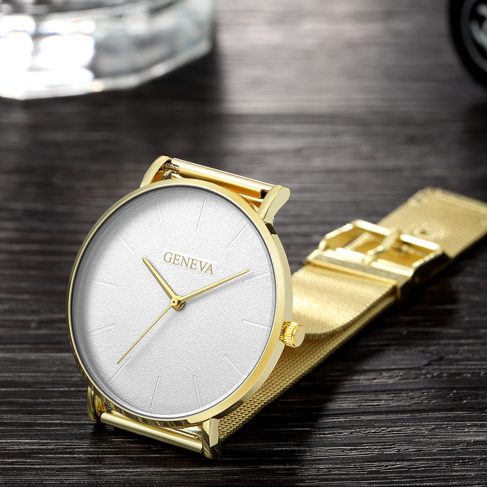 2019 damski zegarek Bayan Kol Saati moda złota róża damski zegarek srebrny kobieta reloj mujer saat relogio zegarek damski 5