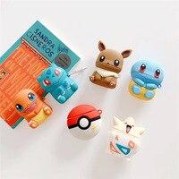 Pocket monster-funda de silicona para auriculares, funda protectora bonita para airpods1 2 Pokemon