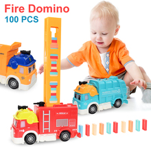 Game-Toys Blocks Train Domino Plastic Kids Brick for Children Boys Car-Set Laying Sound-Light