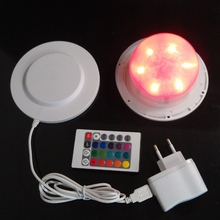 Inductive 120mm LED 6pcs RGBW+6pcs White lights /24RGBW+24White 16 Color Changing Waterproof IP68 Led Lighting Source Lamp Base