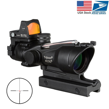 Acog 4x32 punto rojo fibra Cruz fuente Real fibra alcance W/ Rmr Micro punto rojo vista marcada versión negro Riser instrumento óptico