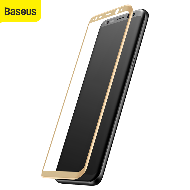 Baseus Screen Protector For Samsung Galaxy S8 3D Curved Full Cover Protective Film For Samsung S8 plus Film Tempered Glass Film