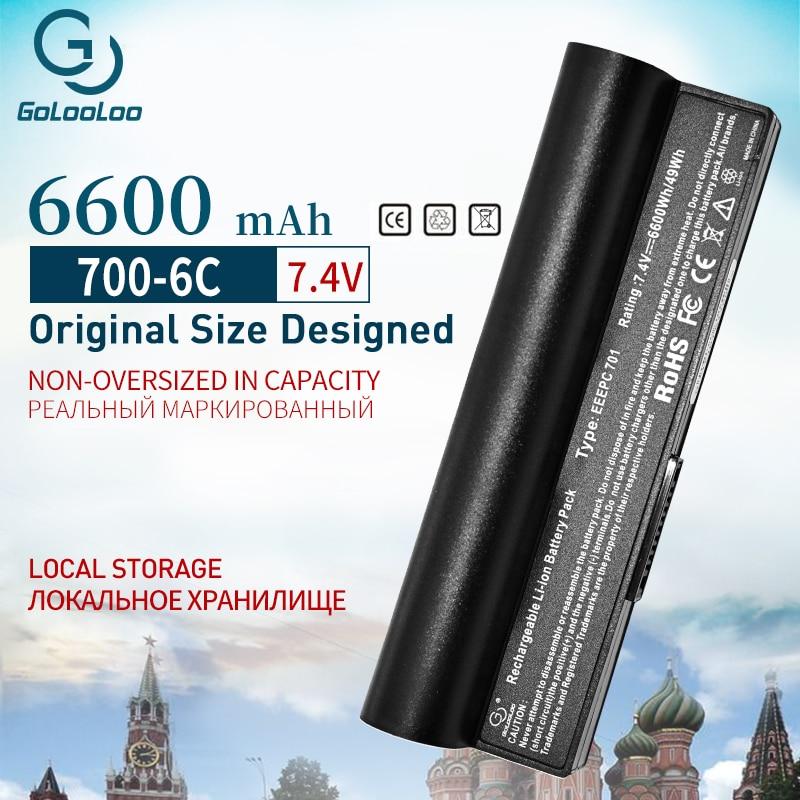Golooloo 7.4v 6600mAh Da Bateria do portátil para Asus Eee PC 2G 4G 8G 900 700 701 90-OA001B1000 A22-700 A22-P701 A23-P701 P22-900