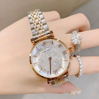 High Quality Women Luxury Hardlex Watches Dropshipping Silver Rose Gold Women Stainless Steel Quartz Watches Japanese Movement