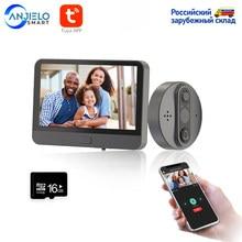 Smart WiFi vidéo sonnette judas sonnette visionneuse maison PIR détection de mouvement moniteur de sécurité détection Tuya APP télécommande