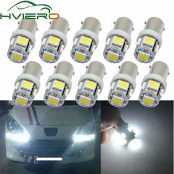 10X LED Auto Led Festoon Dome Door Light Tail Bulb Wedge Lamp 5050 5SMD T11 BA9S White Red Green Blue T4W Turn Bulb Marker Light 10pcs t11 ba9s 5050 5 smd led white light bulb car light source car 12v lamp t4w 3886x h6w 363 high quality