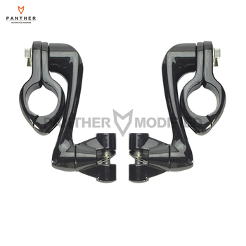 "Universal 1.25"" Motorcycle 360 degree Adjustable Highway Foot Pegs Engine Guard Bar Mounts Kit case for Harley Honda Yamaha"