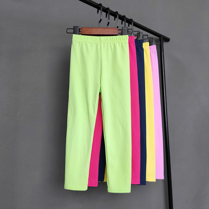 Kids Solid Color Pants For Girls Stretch Skinny Leggings Spring Autumn Soft Slim Trousers Children Pant Girl and Boys