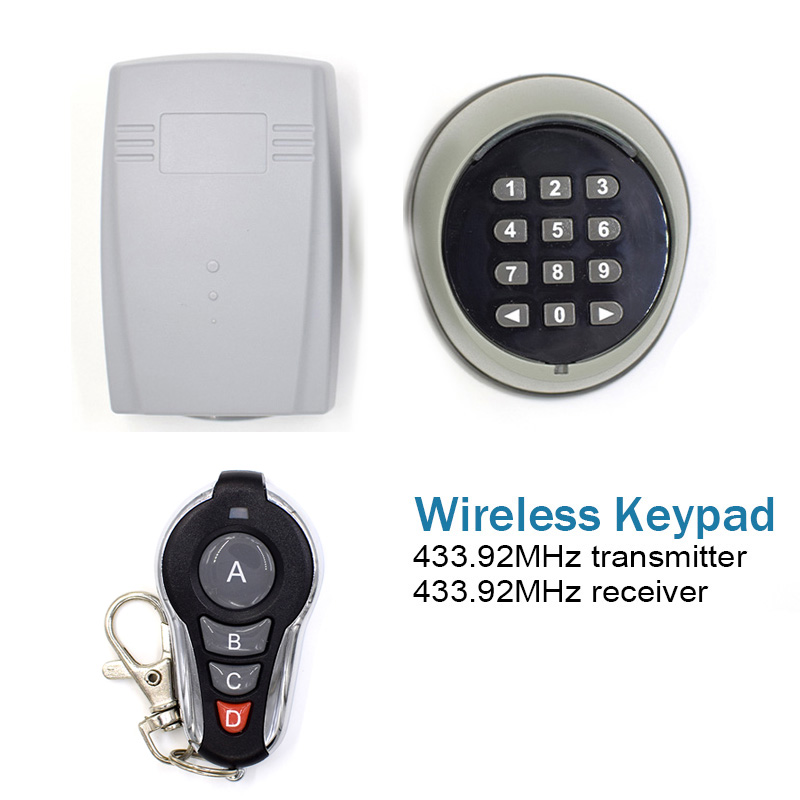 Wireless Keypad password switch & 433MHz 2 Channel receiver &433.92MHz learning code transmitter for Garage door Electronic gate