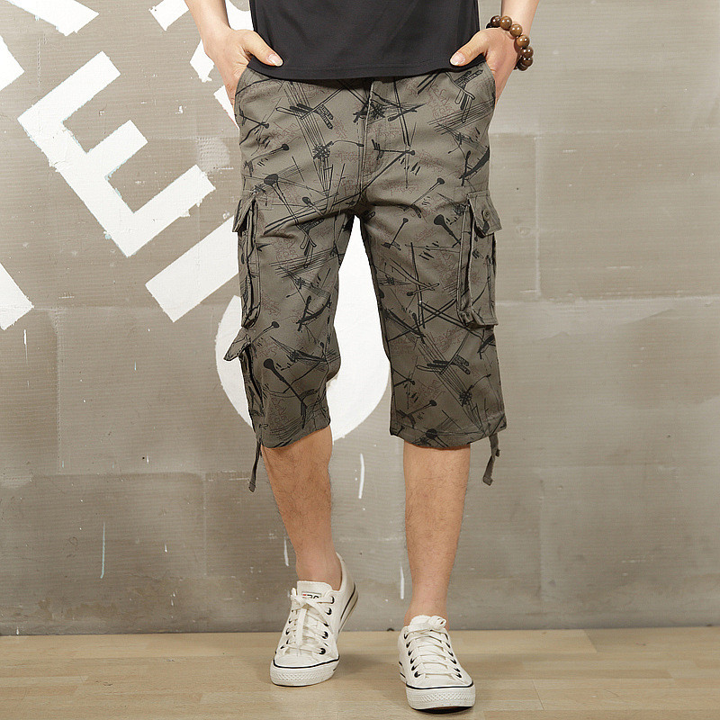 Summer Cargo Shorts Men Casual Baggy Multi Pocket Military Zipper Cargo Short Joggers Overall Male Short Trousers Plus Size 55