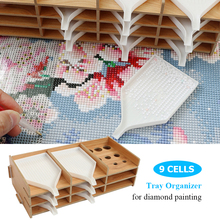 Box Beading-Accessories Pen-Organizer Painting-Tool Multi-Layer Diamond Embroidery Wooden