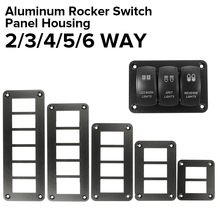 2/3/4/6 Way Car Boat Rocker Switch Panel Housing Holder Aluminum For ARB Carling Switches Parts