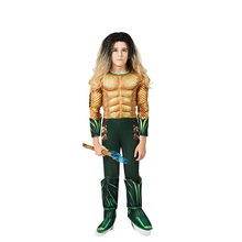 Superhero Cool Aquaman Halloween Costume For Kids Movie Cosplay Suit For Boys Anime Event Gift Performance Show Party