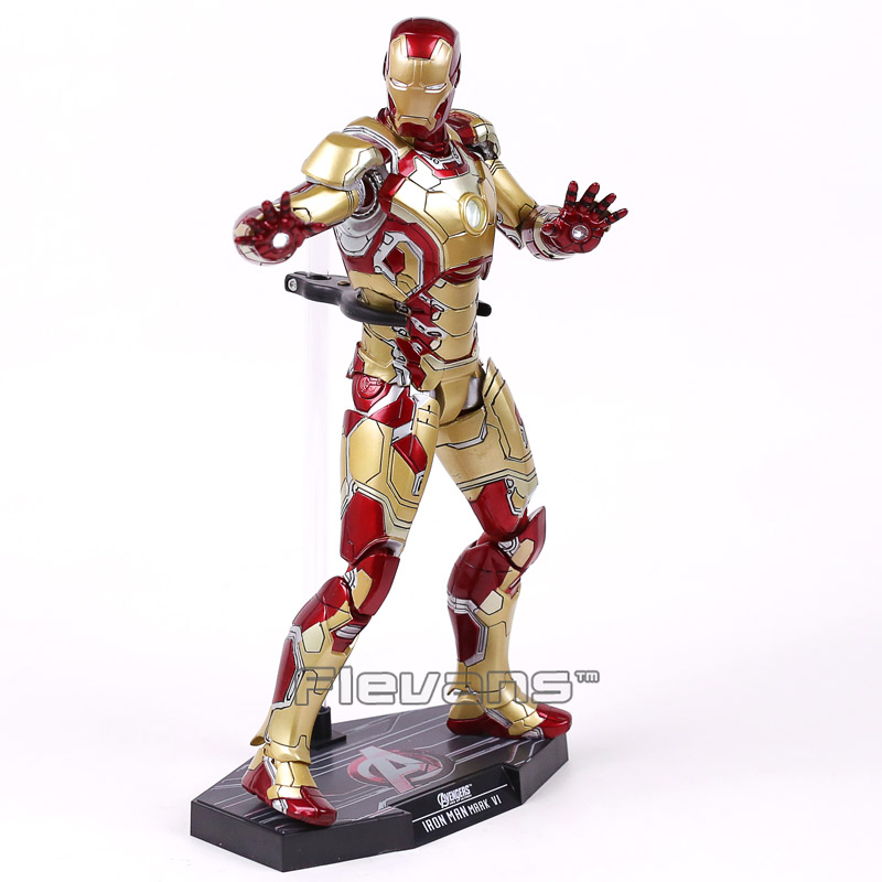 Hot Toys Iron Man Mark XLII MK42 1/6th Scale Collectible Figure Model Toy With LED Light