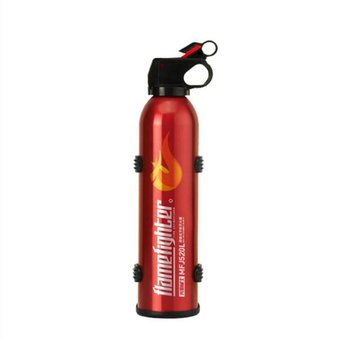 Black Mini Portable Car Fire Extinguisher with Hook Dry Chemical Fire Extinguisher Safety Flame Fighter for Home Office Car maintenance switch for automatic gas extinguisher panel work with fire fighting panel