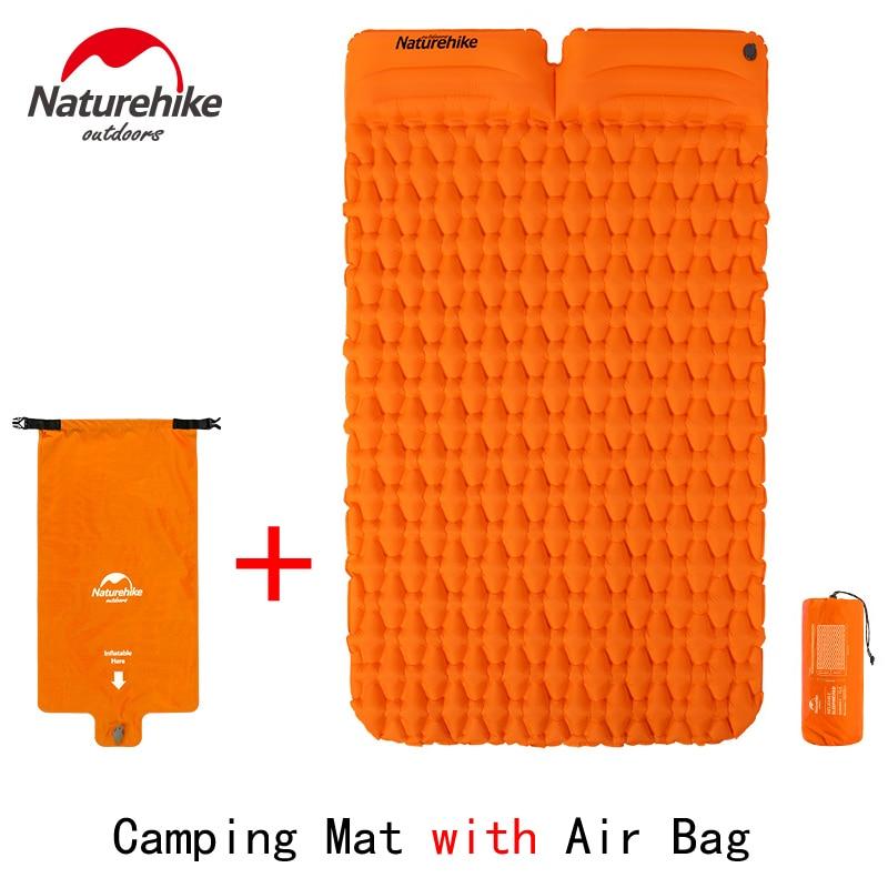 Naturehike Lightweight Moisture-proof Air Mattress Nylon TPU Inflatable Mattress Camping Mat For 2Person NH19Z055-P NH19Z013-P