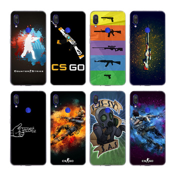 Cs Go Counter Strike Global Offensive Logo Silicone Fundas Case For Xiaomi Redmi Note 9S 9 8 8T 7 K20 K30 Pro 4 4X 5 Plus 9A 6A image