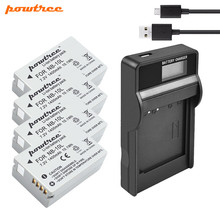 цена на Powtree For Canon NB-10L NB 10L Battery + USB LCD Charger for PowerShot G15 G16 SX40 SX60 CB-2LCE Rechargeable battery