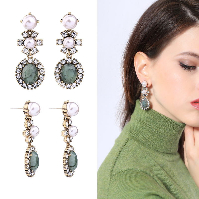 Drop Earring New Arrival Simple Design Crystal Acrylic Earring Wholesale Date Gift Free Shipping