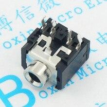 10 шт. PJ306 PJ-306 3,5 мм Женский аудио разъем 5-контактный разъем DIP стерео разъем для наушников