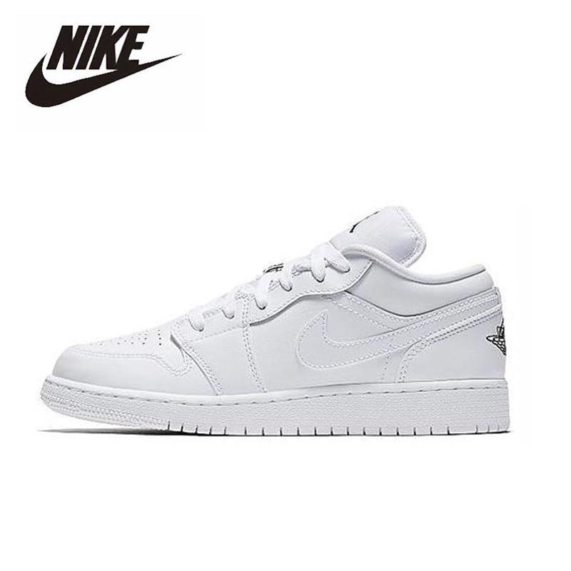 Nike Air Jordan 1 Low White GS Basketball Shoes Men Women Outdoor Sneakers Sport Aj1 Shoes 553558-109