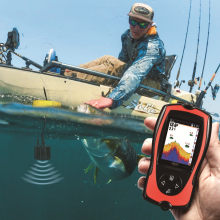 Russische Menu! Lucky FF1108-1CT High Definition Kleur Fishfinder Diepte Echolood Visgerei(China)