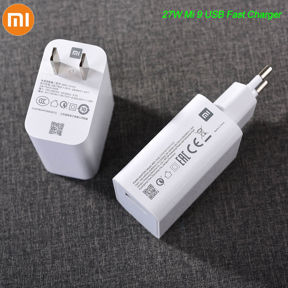Xiaomi Turbo Fast <font><b>Charger</b></font> <font><b>27W</b></font> 20V/1.35A USB Quick Adapter 1M TYPE-C Data Cable For <font><b>Mi</b></font> 5 6 8 9 9T A2 A3 Redmi K20 Note 7 8 Pro image