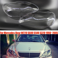 Car Headlight Headlamp Clear Lens Auto Shell Cover For Mercedes Benz W220 S600 S500 S320 S350 S280 1998~2001 2002 2003 2004 2005