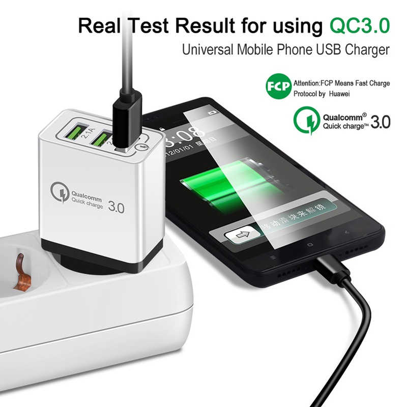 Cargador USB de carga rápida 3,0 5V 2.1A QC3.0 cargador de pared USB de carga rápida para Samsung Ace 4 Young 2 cargador de viaje para teléfono móvil