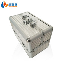 Двойная открытая коробка для макияжа из алюминиевого сплава, чехол для косметических инструментов Munsu, коробка для макияжа mei jia xiang, профессиональный портативный алюминиевый чехол для макияжа