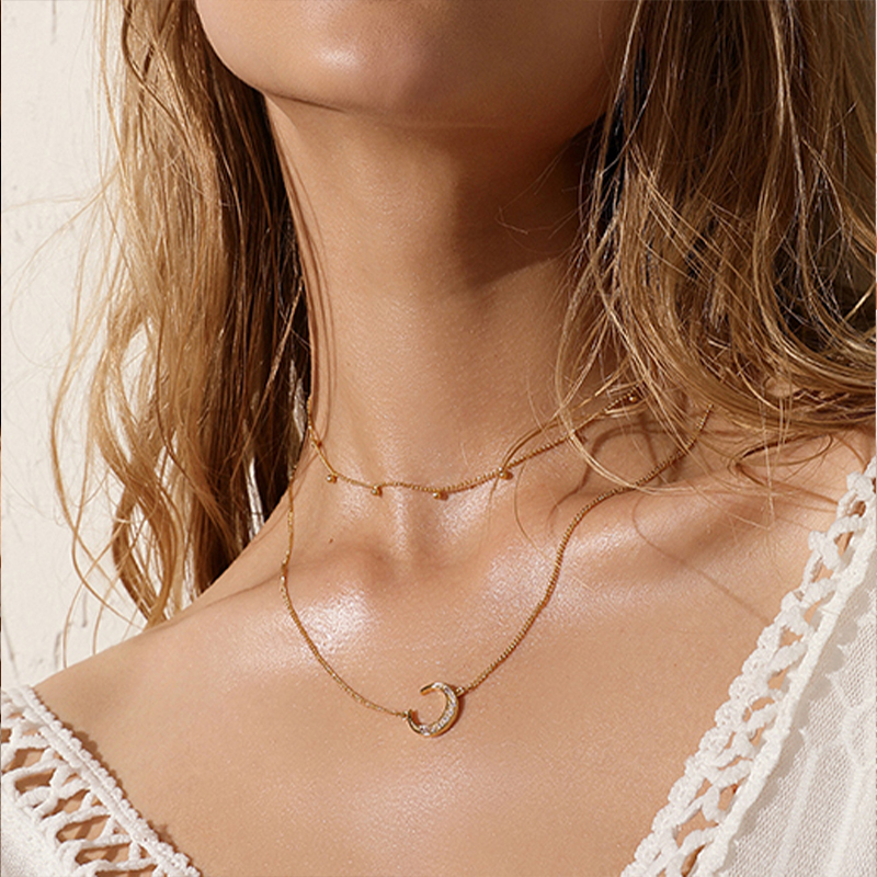 stainless steel necklace Vintage pendant necklace women multi-layer necklace bohemian chain women jewelry choker necklace