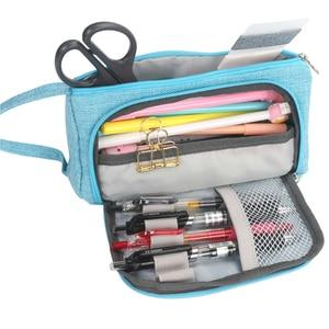 Image 5 - חדש סופר קלמר Kawaii גדול קיבולת Pencilcase מקרה עט בית ספר אספקת עיפרון תיק בית ספר תיבת עפרונות פאוץ מכתבים
