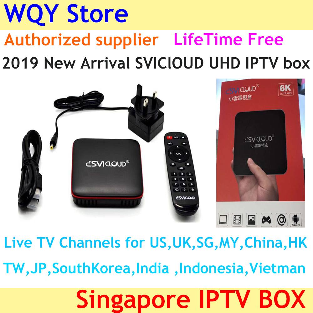 Iptv-Box Fiber Indian-Channels Singapore Starhub Svicloud China with HK MY USA UK Gen2
